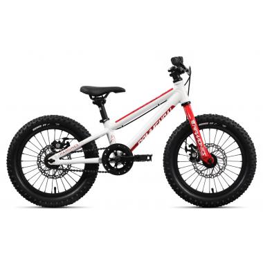 """Vélo Enfant COMMENCAL RAMONES 16"""" Blanc/Rouge 2020"""