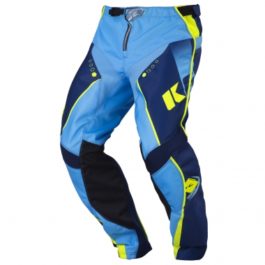 KENNY TRACK Pants Navy Blue/Cyan/Neon Yellow 2017