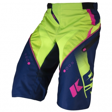 Pantalón corto KENNY TRACK Azul marino/Verde/Rosa fluorescente 2017