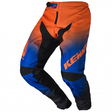 Pantalon KENNY BMX ELITE Noir/Bleu/Orange Fluo 2017