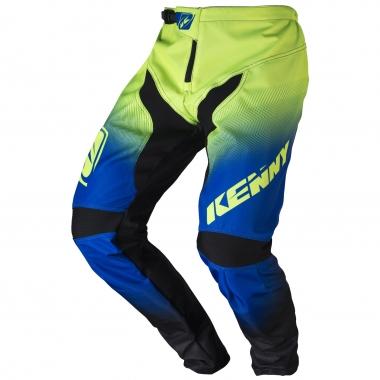 Pantaloni KENNY BMX ELITE Nero/Blu/Verde Lime 2017