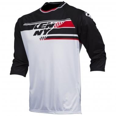 Maillot KENNY INDY Manches 3/4 Noir/Blanc/Rouge 2017