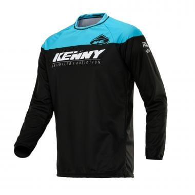 Maillot KENNY TRACK Manches Longues Noir/Turquoise 2020