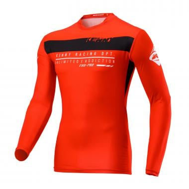 Maillot KENNY EVO-PRO Enfant Manches Longues Rouge 2020