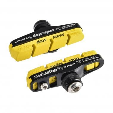 Paire de Patins SWISS STOP FULL FLASH PRO YELLOW KING Shimano Carbone