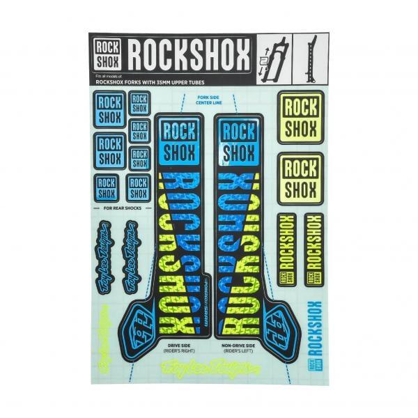 ROCK SHOX Fourche Stickers Autocollants vtt DOWN HILL MTB #b01