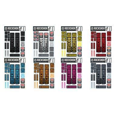 Kit Stickers pour Fourches ROCKSHOX Plongeurs 30/32 mm et RS-1