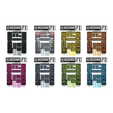 Kit Stickers pour Fourches Double Tés  ROCKSHOX  35 mm BOXXER / DOMAIN