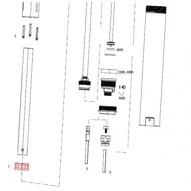 Piston Flottant Gris pour Tige de Selle ROCKSHOX REVERB AXS/Stealth C1 #11.6818.053.000