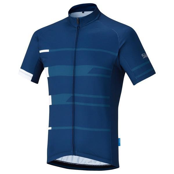 noir//bleu taille M Homme Shimano thermique Team Jersey