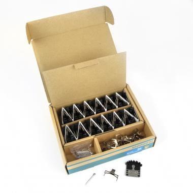 Plaquettes Métalliques Ventilées SHIMANO J04C (Boîte de 25 Paires)