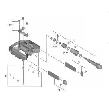 Kit de Picots pour Pédales SHIMANO XT T8000 6 mm #YL8498060