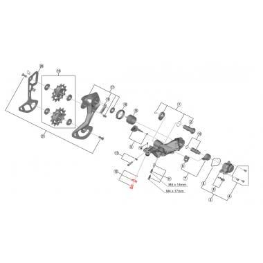 Vis de Fixation de Câble de Dérailleur Arrière SHIMANO XTR M9100 #Y3FA98060