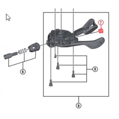 Cache Tête Cable Commande de Vitesse SHIMANO #Y6CD33000
