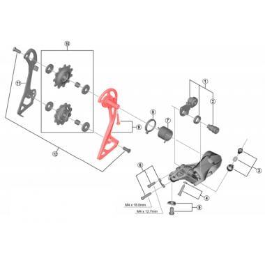 Chape Externe et Fixation pour Dérailleur Arrière SHIMANO 105 RD-R7000-GS #Y3F398060