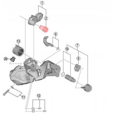 Axe de Fixation B Montage Direct pour Dérailleur Arrière SHIMANO RD-M8050 Di2 #Y5ZN00023