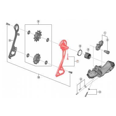 Chape de Dérailleur Arrière Externe Médium SHIMANO ULTEGRA RD-R8050-GS #Y3HR98060