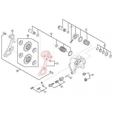Chape de Dérailleur Arrière Externe Courte SHIMANO DURA-ACE RD-R9000-SS #Y5XX98070