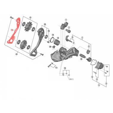 Chape de Dérailleur Arrière Interne Médium SHIMANO XTR / XT Di2 RD-M9050/8050-GS #Y5PU09100