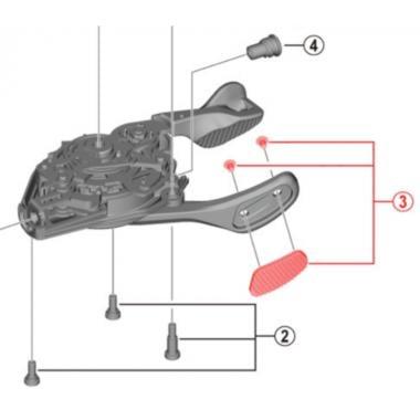 Grip de Rechange pour Commande de Vitesse SHIMANO XTR SL-M9100 Droite #Y0FA98030