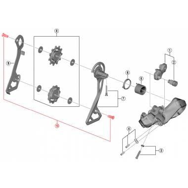 Vis de Fixation pour Galets de Dérailleur Arrière SHIMANO ULTEGRA DI2 RD-R8050 (x2) #Y3HR98050