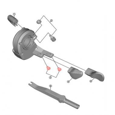 Kit 2 Vis pour Boutons Poussoir de Commandes de Vitesses SHIMANO XT/XTR Di2 #Y01W98010