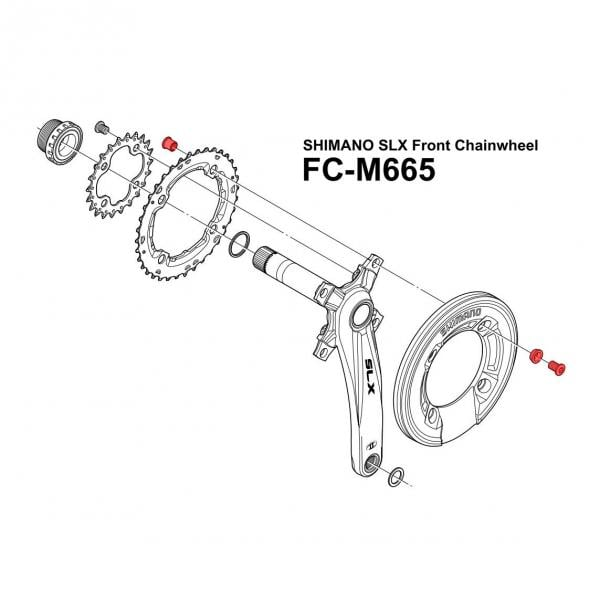 Shimano Slx Fc M665 Bolt Kit Large Chainring Bash