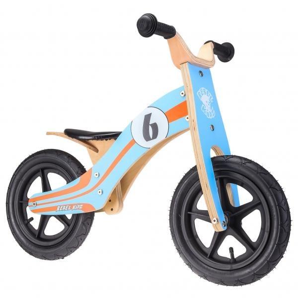 Bici sin pedales REBEL KIDZ LE MANS Madera Azul/Naranja - Bikeshop