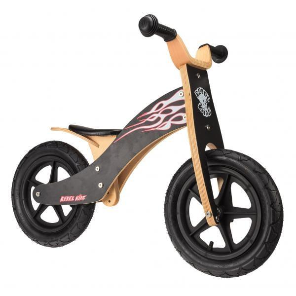 Bici sin pedales REBEL KIDZ FLAMMES Madera Negro - Bikeshop