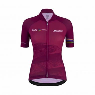 Maillot SANTINI UCI OFFICIAL WORLD TOUR Femme Manches Courtes Violet 2021