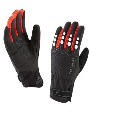 Guantes SEALSKINZ ALL WEATHER CYCLE XP Mujer Rojo/Negro