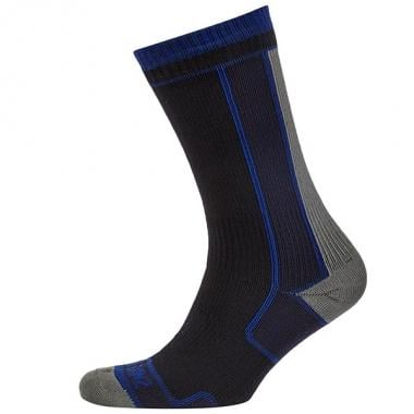 Meias SEALSKINZ THIN MID LENGTH Preto/Azul