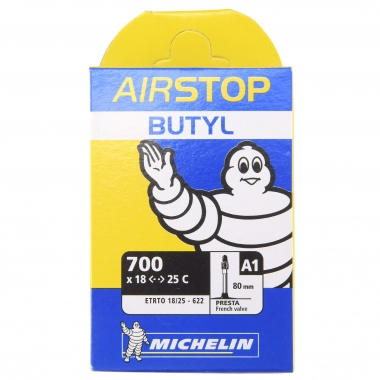 Chambre à Air MICHELIN A1 AIRSTOP BUTYL 700x18/25c Valve 80 mm