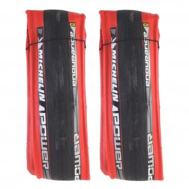 Lote de 2 cubiertas MICHELIN POWER ENDURANCE 700x23c Flexible