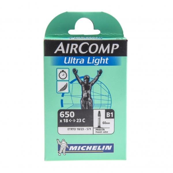 Chambre air michelin aircomp ultra light 650x18 23c for Chambre a air velo route