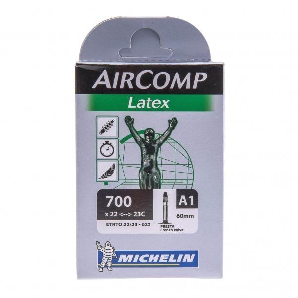 Chambre air michelin aircomp latex 700x22 23c valve 60 for Chambre a air michelin moto