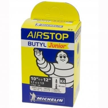 Chambre à Air MICHELIN K4 AIRSTOP Butyl 10-12x1,75/1,90 Presta 40 mm
