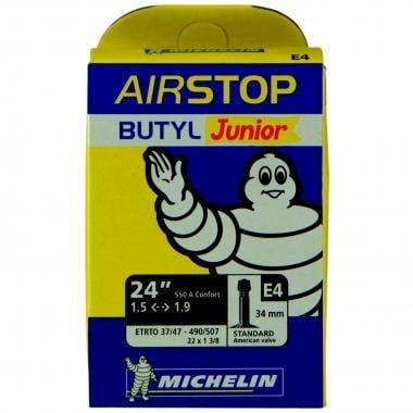 Chambre à Air MICHELIN E4 AIRSTOP Butyl 24x1,50/1,90 Schrader 34 mm