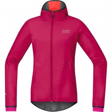 Maillot con capucha GORE BIKE WEAR ELEMENT WINDSTOPPER SOFT SHELL Mujer Mangas largas Rosa