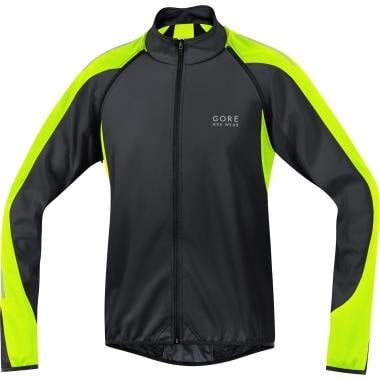 Casaco GORE BIKE WEAR PHANTOM 2.0 WINDSTOPPER SOFT SHELL Preto/Amarelo fluo