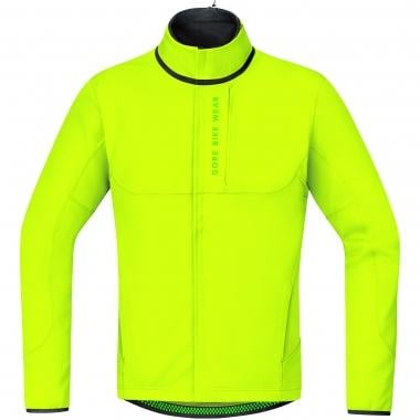 Veste GORE BIKE WEAR POWER TRAIL WINDSTOPPER SOFT SHELL THERMO Jaune Fluo