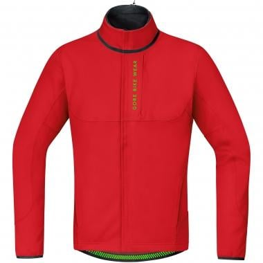 Giacca GORE BIKE WEAR POWER TRAIL WINDSTOPPER SOFT SHELL THERMO Rosso