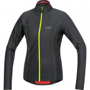 Maglia GORE BIKE WEAR ELEMENT THERMO Donna Maniche Lunghe Nero/Giallo Fluo