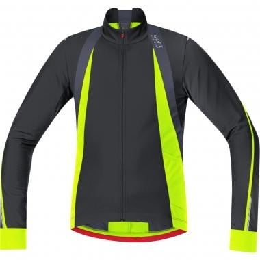 Maillot GORE BIKE WEAR OXYGEN THERMO Manches Longues Noir/Jaune Fluo