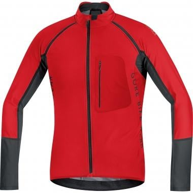 Maillot GORE BIKE WEAR ALP-X PRO WINDSTOPPER SOFT SHELL ZIP-OFF Mangas largas Desmontables Rojo/Negro
