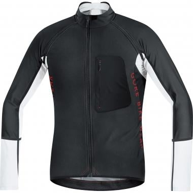 Maillot GORE BIKE WEAR ALP-X PRO WINDSTOPPER SOFT SHELL ZIP-OFF Mangas largas Desmontables Negro/Blanco