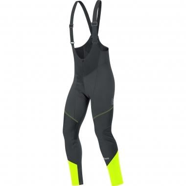 Culotte largo con tirantes GORE BIKE WEAR ELEMENT WINDSTOPPER SOFT SHELL Negro/Amarillo Fluo