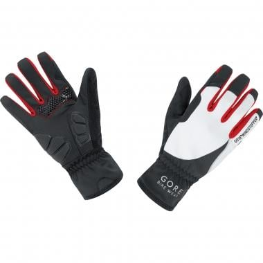 Guantes GORE BIKE WEAR POWER WINDSTOPPER SOFT SHELL Mujer Negro/Blanco