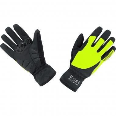 Guantes GORE BIKE WEAR POWER WINDSTOPPER SOFT SHELL Mujer Negro/Amarillo fluorescente