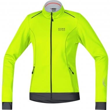 Veste GORE BIKE WEAR ELEMENT WINDSTOPPER SOFT SHELL Femme Jaune Fluo/Noir